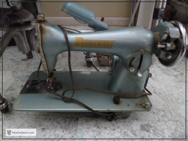 Beacon Sewing Machine - before