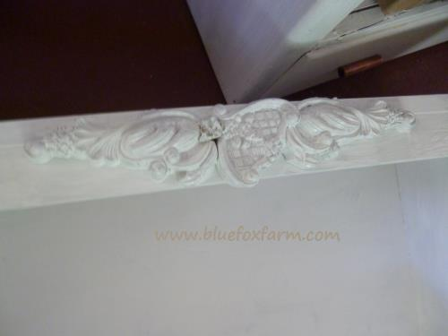 Letting glue on the decorative trim dry...