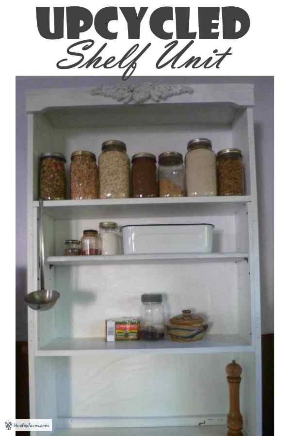 Upcycled Shelf Unit - with a twist