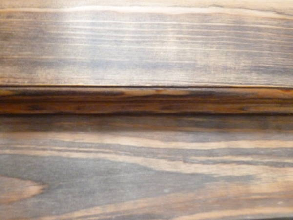 Vinegar and Steel Wool stain on fir and larch