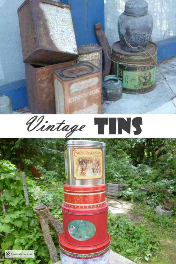 Vintage Tins - weathered & rustic