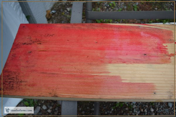 Weathered Red Barn Paint - just painted