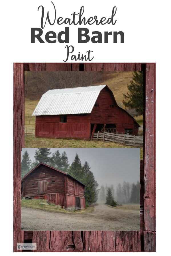 Weathered Red Barn Paint - vintage, copyable, and gorgeous... Rustic Crafts   Rustic Paint Techniques
