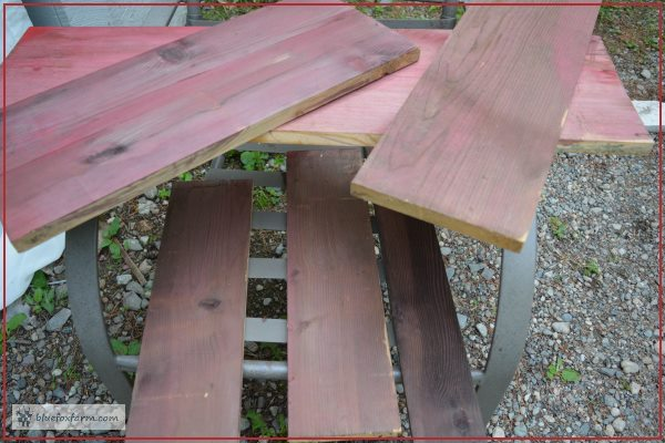 Weathered Red Barn Paint - a selection of boards, finished and dry, ready to use for signs or other crafts