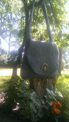 Felted Alpaca purse