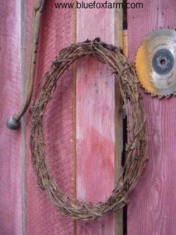 See more on the Barbed Wire Wreath...