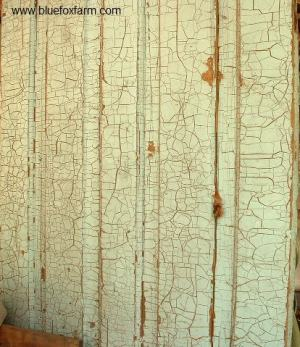 The genuine article - a crackled door, aged and weathered by nature