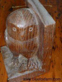 a handcarved owl; was it carved with some of these chisels?