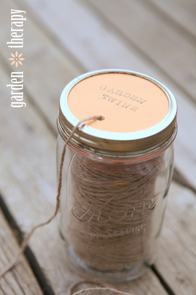 See how to make a garden twine dispenser on Garden Therapy...
