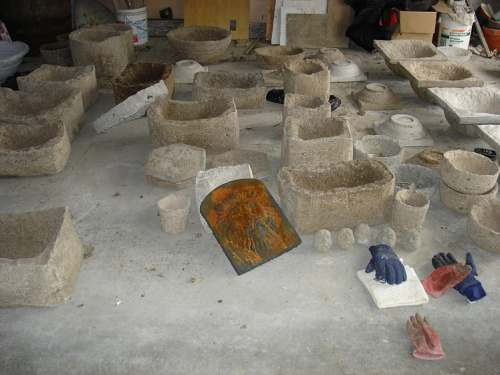 Troughs and pots curing