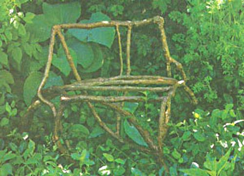 Rustic Garden Chair - this one is as extreme as they come