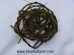 Wrapped, entwined and interlaced willow twigs