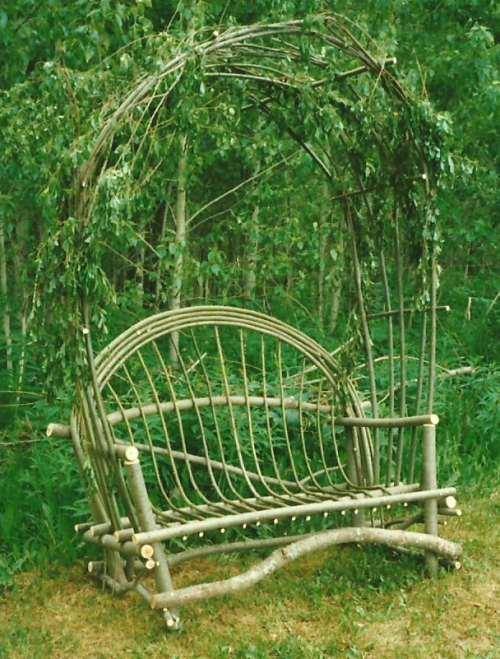 Rustic Twig Arbor Chair to grace your wild garden