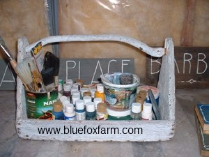 Twig Handled Paint Supply Tote - see more about twig handles here...