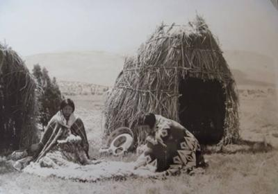 undated picture of Native women working