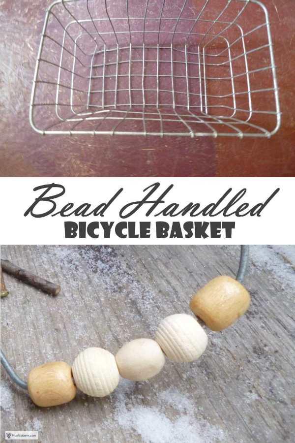 Bead Handled Bicycle Basket