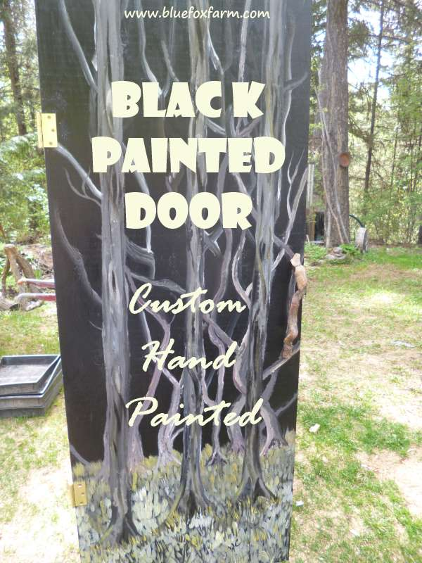 Custom Designed and Painted  for a spectacular totally unique door