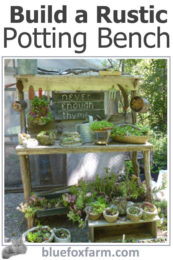 Rustic Potting Bench Plans