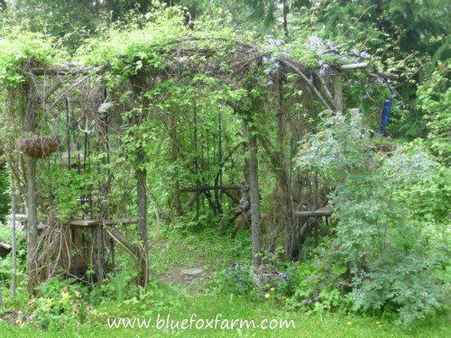 Magical twig gazebo in the forest...