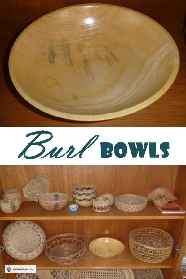 Burl Bowl from an ash tre