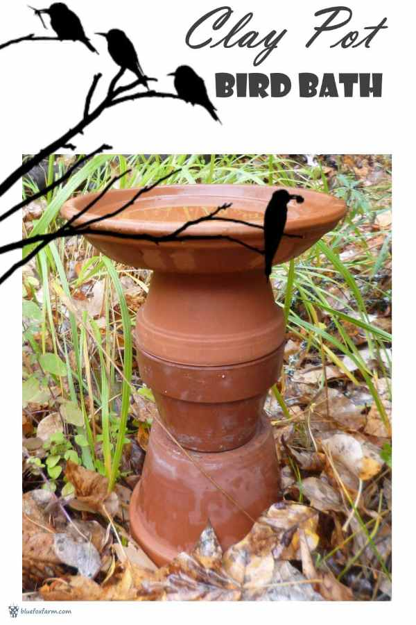 Clay Pot Bird Bath - garden art, for the birds... Rustic Garden Art | Terra Cotta Clay Pots