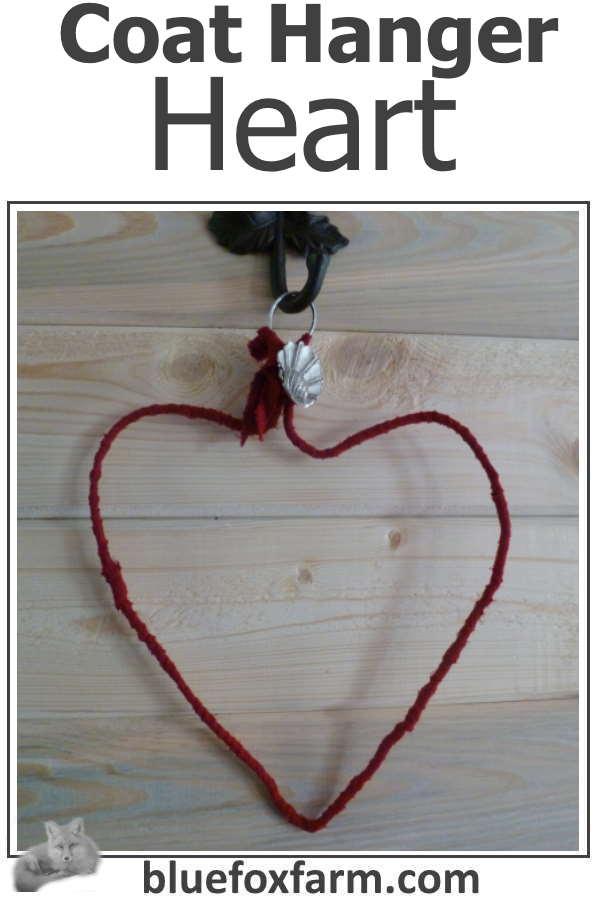 A primitive Coat Hanger Heart...