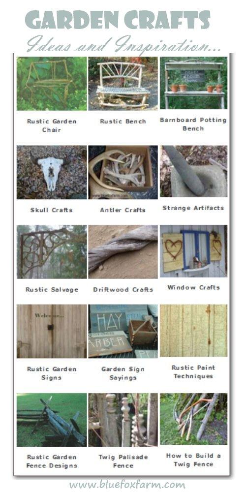 Garden Crafts - Ideas, Inspiration, and DIY tutorials