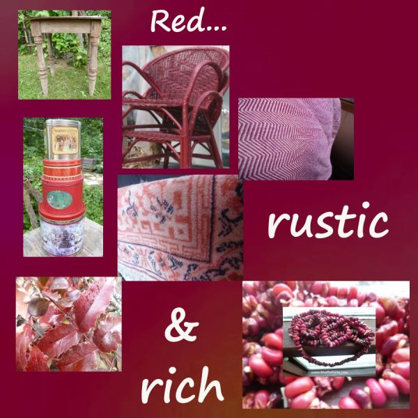 My Red and Rustic Theme...