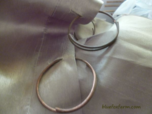 Revised version of the copper wire curtain rings