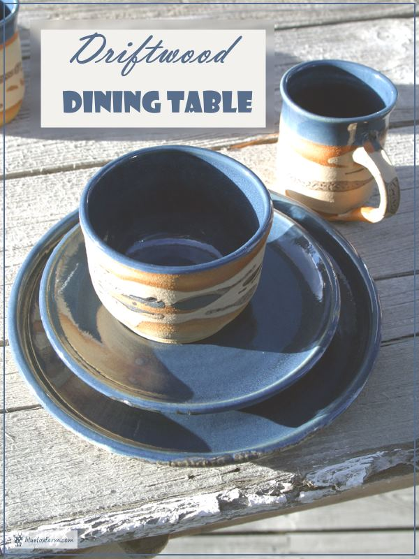 Cammidge Pottery on a rustic driftwood table