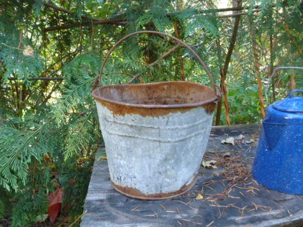 Rusty Galvanized Bucket