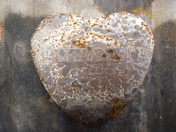 Rusty Metal Heart Shaped Tin