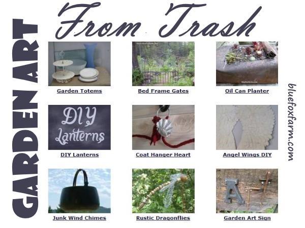 Garden Art From Trash
