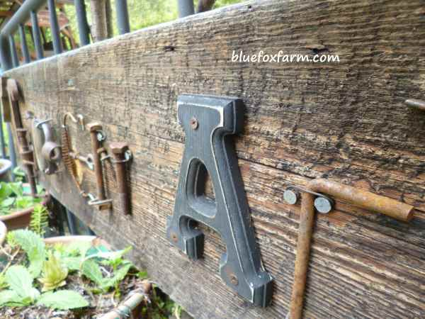 Rustic salvage made into a creative sign