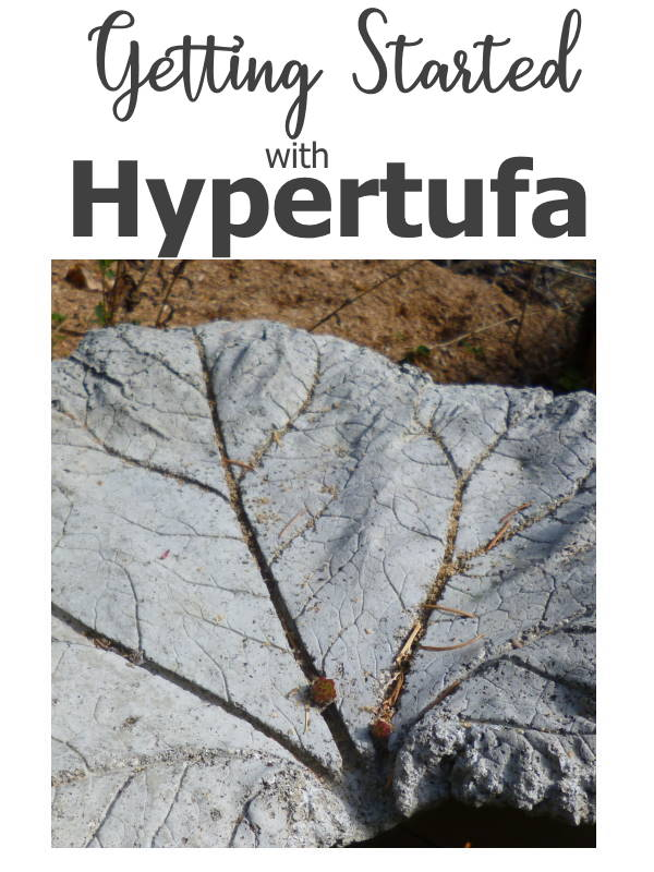 Getting Started With Hypertufa - rhubarb leaf mold