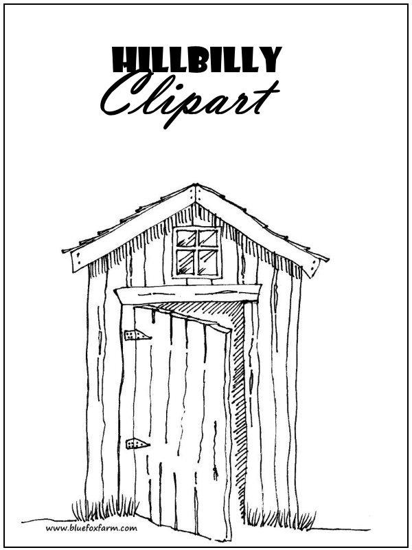 Hillbilly Clipart; rustic pictures, shacks & primitive art