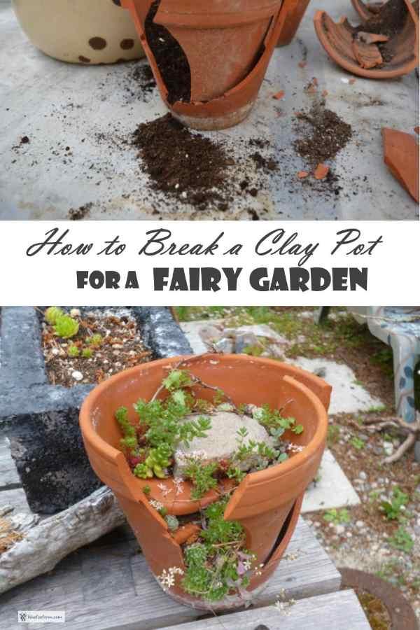 How to Break a Clay Pot for a Fairy Garden