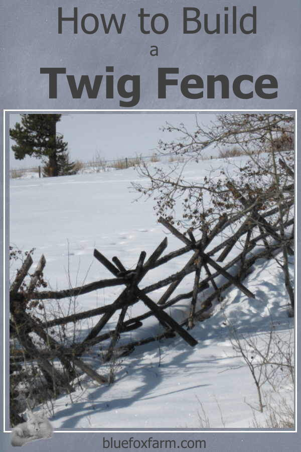 How to Build a Twig Fence - start with wire and twigs and see where that takes you... Gardening | Rustic Garden Art