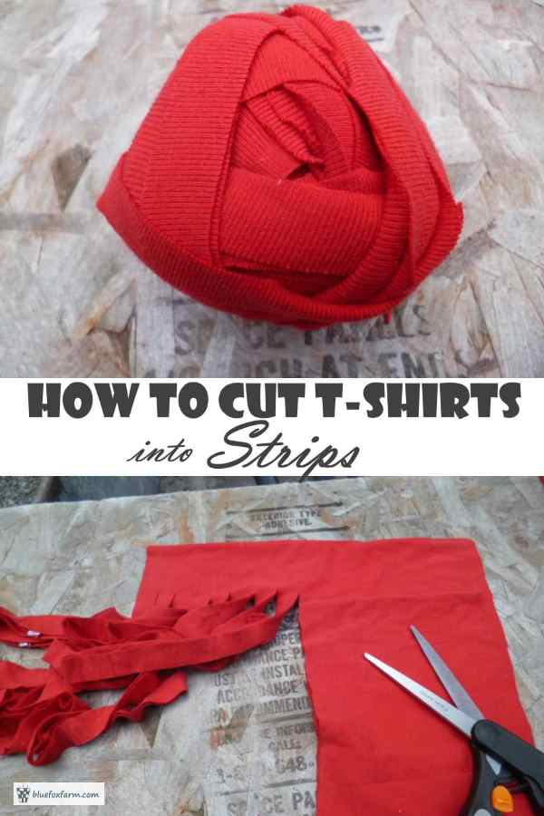 How to Cut T-Shirts into Strips - easily and quickly...