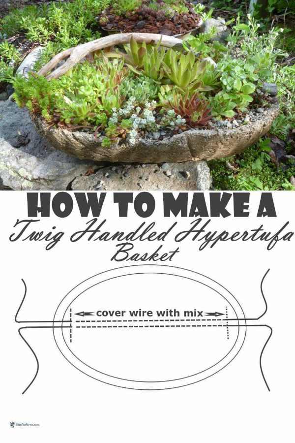 How to Make a Twig Handled Hypertufa Basket