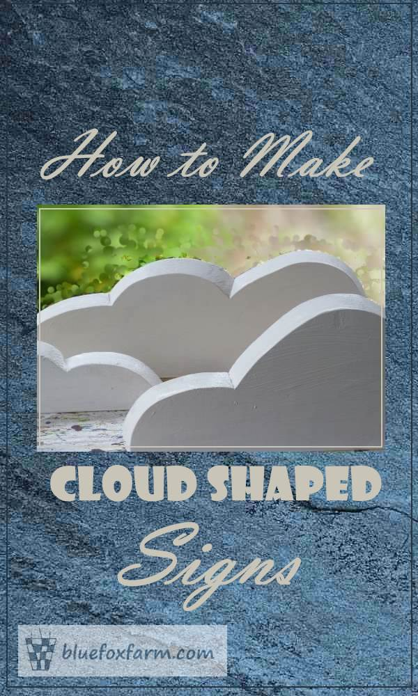 Cloud Shape Signs - How to DIY