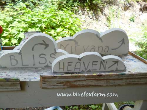 Cloud shaped signs pack that extra punch...