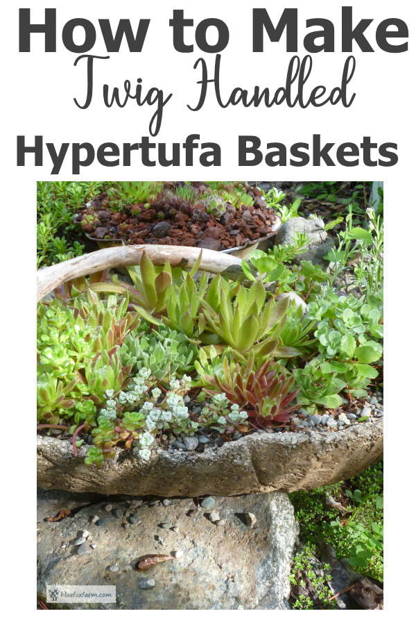 How to Make a Twig Handled Hypertufa Basket