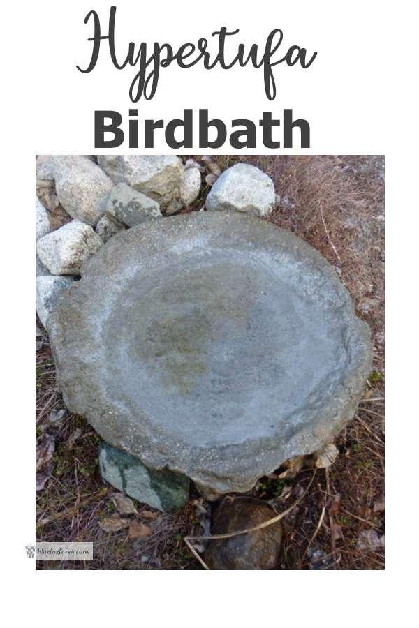 Hypertufa Bird Bath