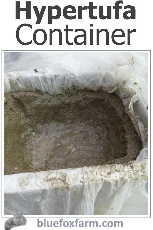 Hypertufa Container
