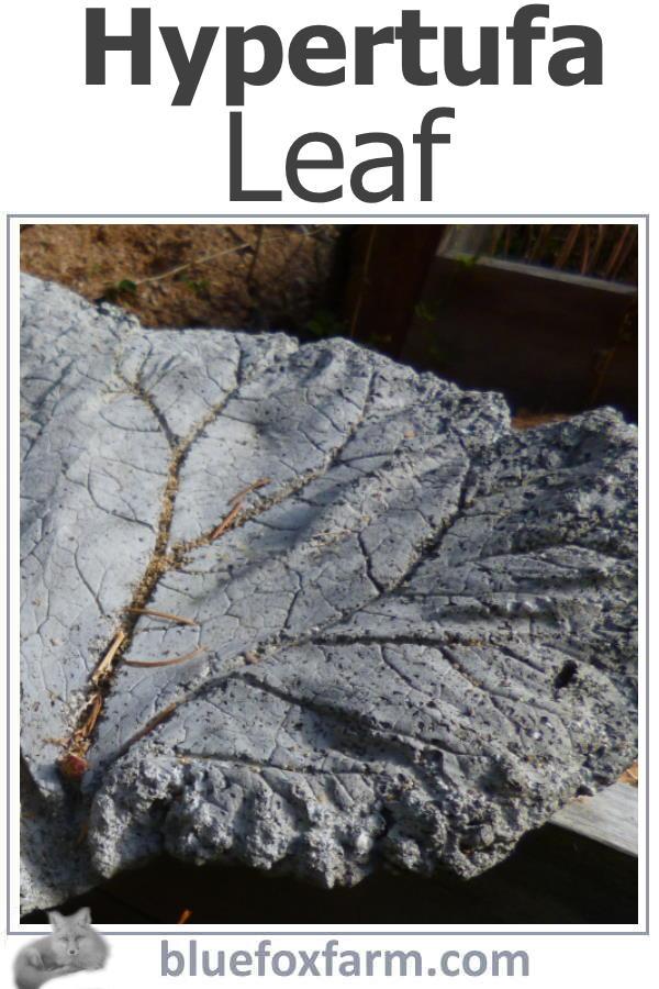 Hypertufa Leaf