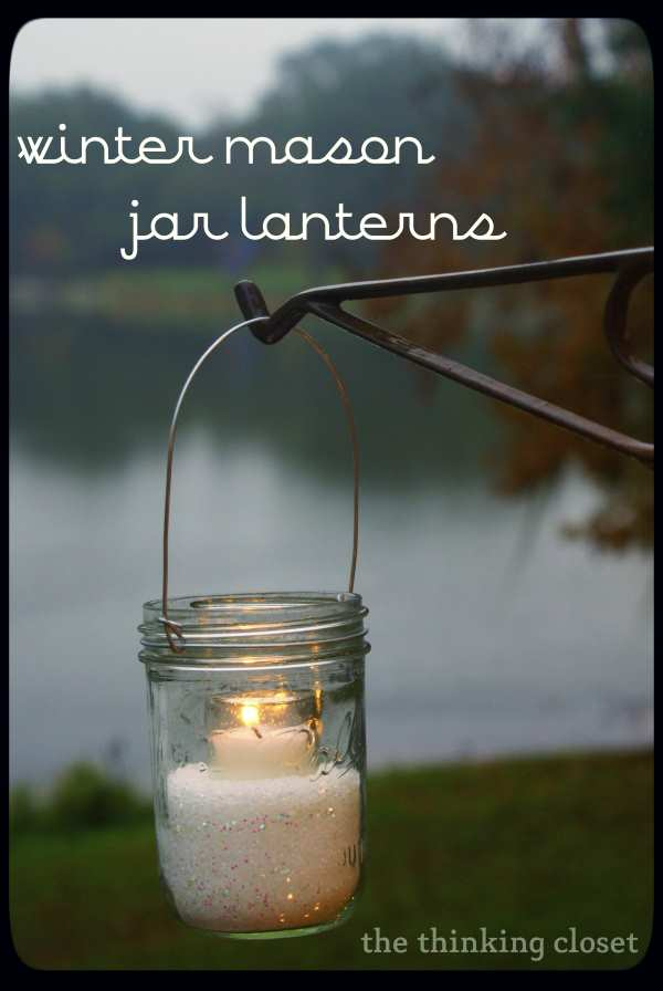 Winter Mason Jar Lanterns