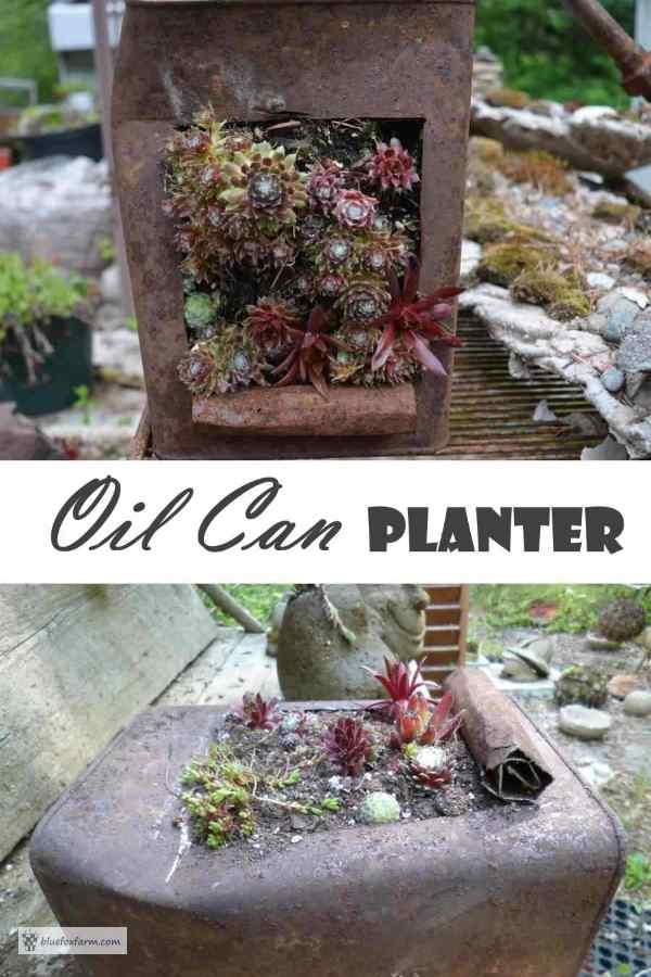 Oil Can Planter - Garden Art DIY