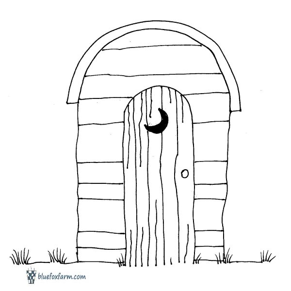 Hillbilly Clipart - outhouse