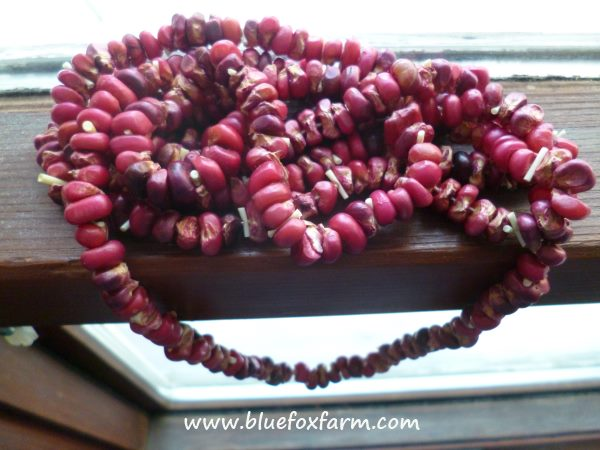 Pomegranate Seeds made into beads - how spectacular...